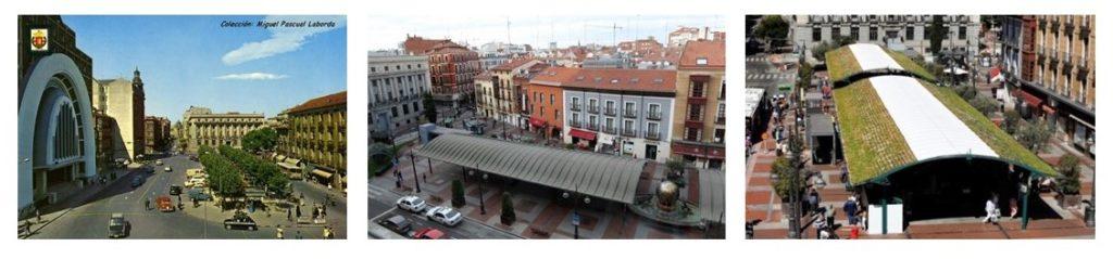 urban green spaces in Plaza España, Valladolid
